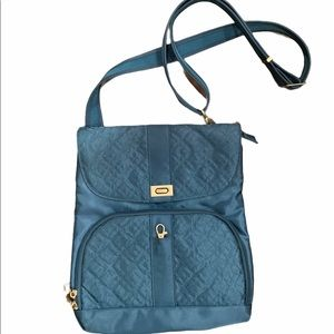 Traveling teal crossbody purse